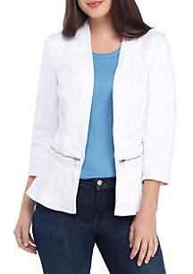 New Directions® Zip Waist Denim Jacket