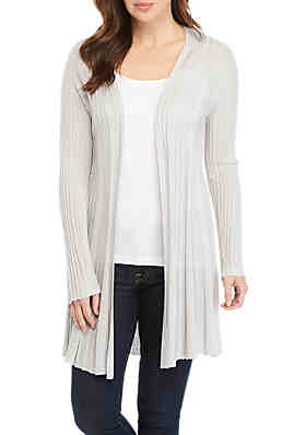 0cd34a586d New Directions® Long Sleeve Lurex Pleat Cardigan ...