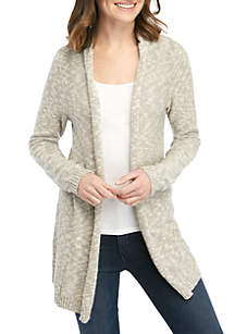 New Directions® Long Sleeve Open Stitch Pointelle Cardigan · New  Directions® Long Sleeve Marled Cardigan 2418b01da