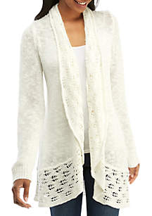 Long Sleeve Cable Cardigan