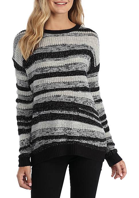 Long Sleeve Mix Stitch Stripe Sweater