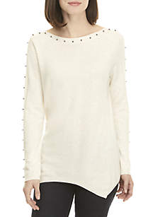 Long Sleeve Beaded Hanky Sweater