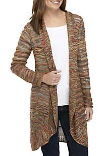 Long Sleeve Multi Color Cardigan