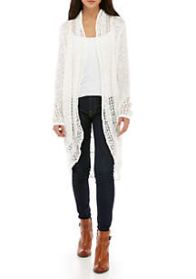 Petite Long Sleeve Slub Cardigan