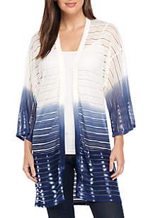 Short Sleeve Printed Kimono