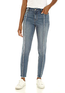 Petite Fray Front Denim Jeans