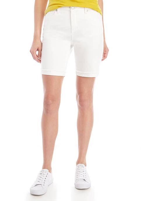 Kaari Blue™ White Bermuda Jean Shorts