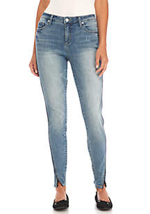 Twisted Denim Seam Piping Jeans