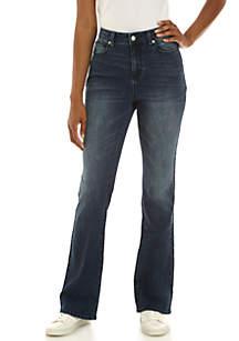 Flare Leg 5-Pocket Denim Pants