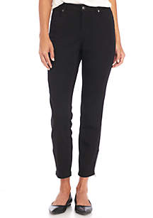 Sateen Pants With Zipper Front