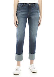 Kaari Blue™ High Cuff Straight Jeans
