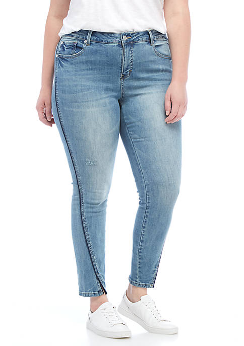 Kaari Blue™ Plus Size Twisted Seam Denim Jeans