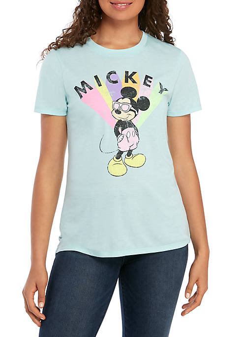 Modern Lux Short Sleeve High Low Neon Mickey