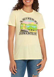 Modern Lux High Low A World Of Adventure Graphic Tee