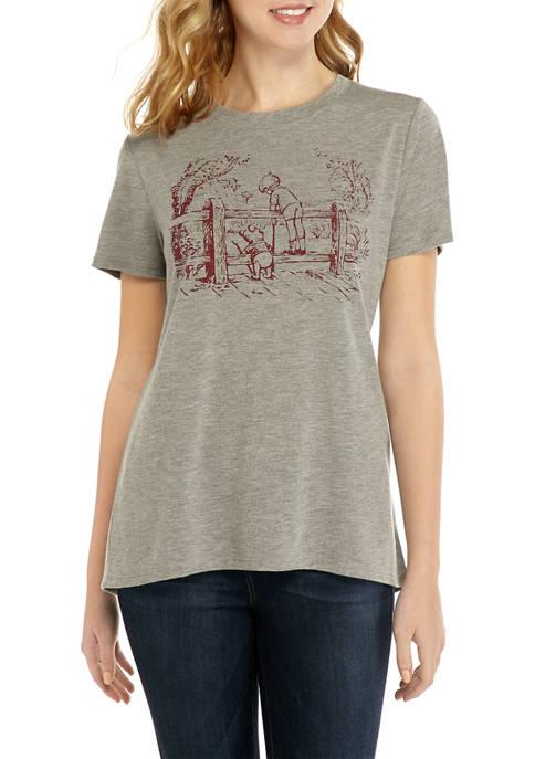 Juniors Pooh Scenic Graphic T-Shirt