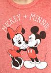 Juniors Mickie and Minnie Graphic T-Shirt