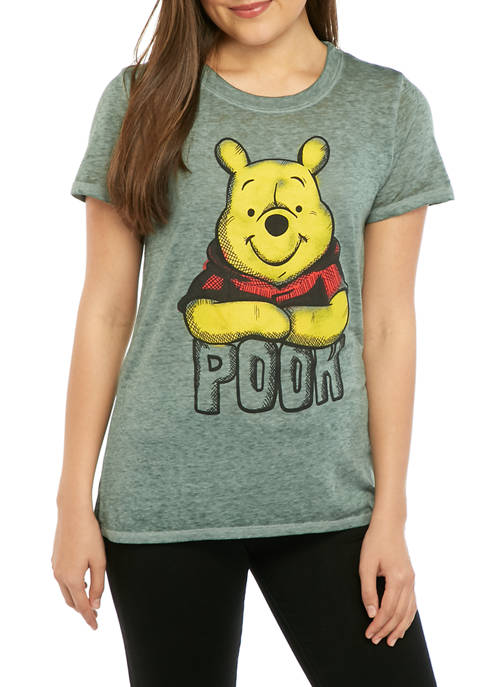 Disney® Juniors Short Sleeve Pooh Graphic T-Shirt