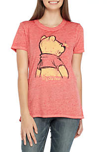 Short Sleeve High Low Burnout Pooh Silly Bear Tee