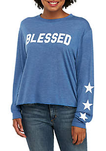 Long Sleeve Blessed With Stars Top