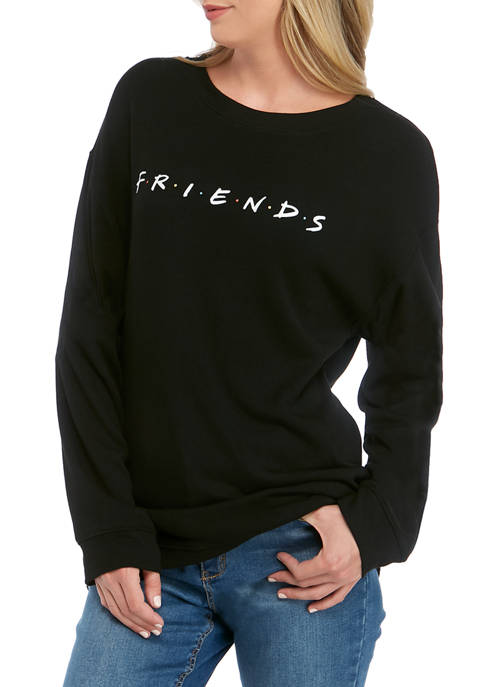 Juniors Long Sleeve Fleece Friends Pullover