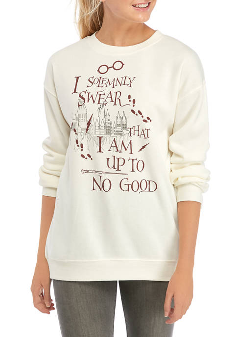 Juniors Long Sleeve Fleece Harry Potter Graphic Pullover