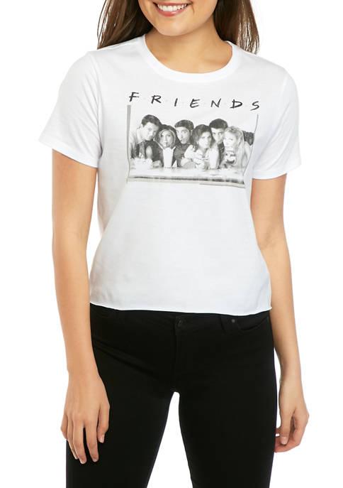 Juniors Short Sleeve Skimmer Friends T-Shirt