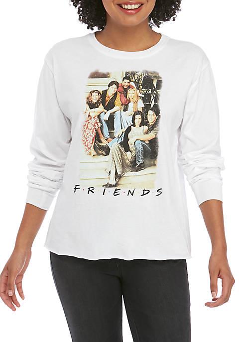 Modern Lux Juniors Long Sleeve Friends Skimmer T-Shirt
