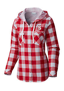 NC State Collegiate Times Two Hooded Flannel