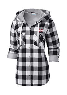 Mississippi State Times Two Hooded Long Sleeve Flannel