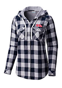University of Mississippi Times Two Hooded Long Sleeve Flannel