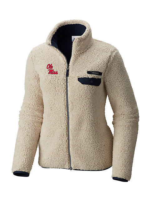 Columbia Ole Miss Rebels Mountainside Full Zip Sherpa