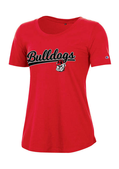 NCAA Georgia Bulldogs Relaxed Fit Short Sleeve Graphic T-Shirt