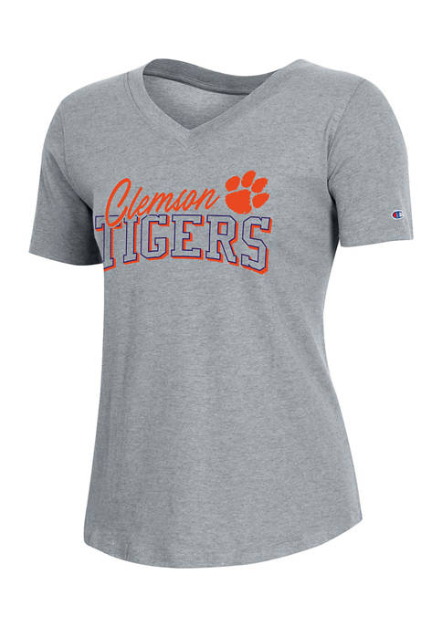 Champion® NCAA Clemson Tigers Relaxed Fit V-Neck Short