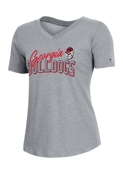 Champion® NCAA Georgia Bulldogs Relaxed Fit V-Neck Short