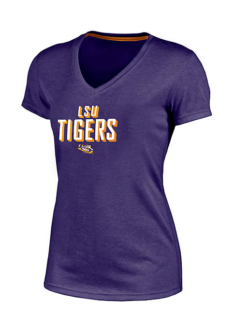 Champion® Short Sleeve LSU Success V-Neck Tee