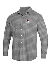 Georgia Bulldogs Window Pane Long Sleeve Button Down Shirt