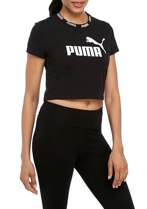 Amp Logo Cropped T Shirt