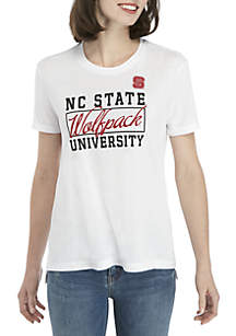NC State Wolfpack Large Box Crew Short Sleeve Tee