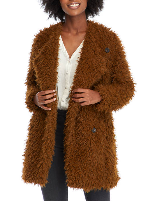 New Directions® Womens Poodle Jacket