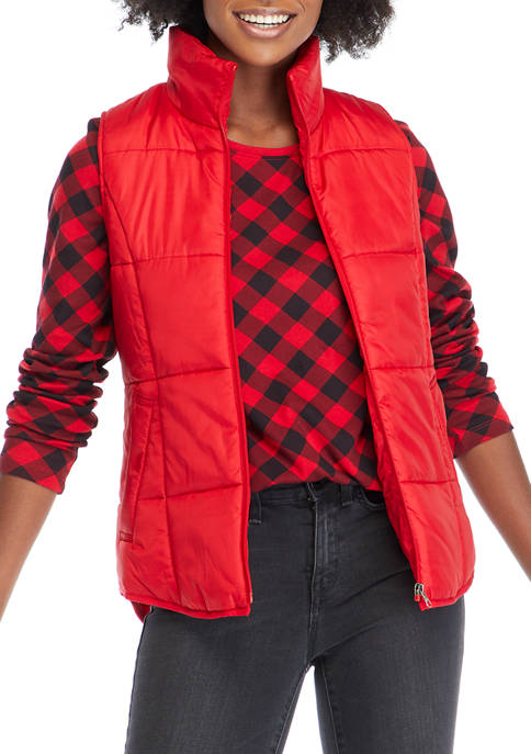 New Directions® Womens Solid Puffer Vest