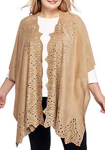 Short Sleeve Laser Cut Kimono Top