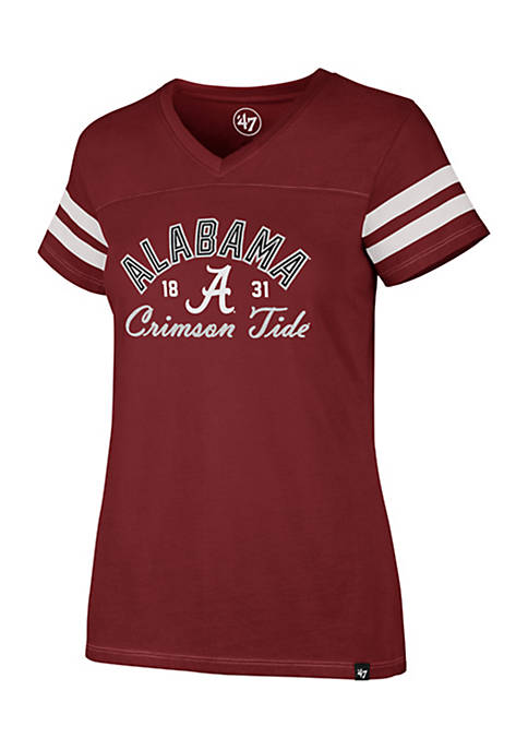 47 Brand Short Sleeve Alabama Dinger V-Neck Tee