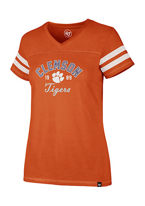 47 Brand Short Sleeve Clemson Dinger V-Neck Tee