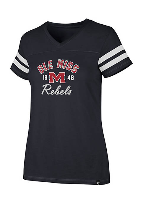 47 Brand Short Sleeve Ole Miss Dinger V-Neck