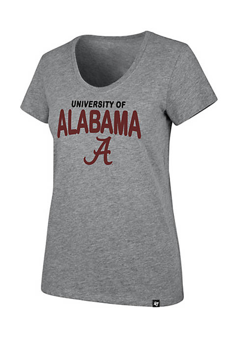 47 Brand Alabama Short Sleeve Wordmark Scoop Neck
