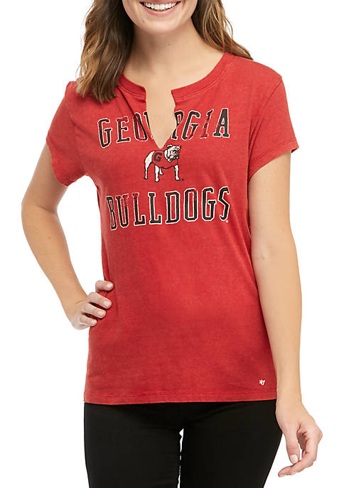 47 Brand NCAA Georgia Bulldogs Gamma Raw V-Neck