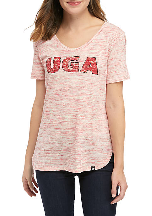 47 Brand NCAA Georgia Bulldogs Split Hem T-Shirt