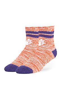 Clemson Tigers Fuzzy Crew Socks