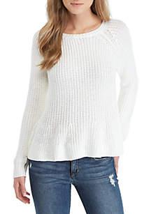 Mia Flounce Hem Sweater