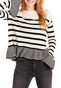 Hayden Stripe Ruffle Sweater
